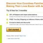 Free Amazon Prime shipping & 20% off with Amazon Mom membership