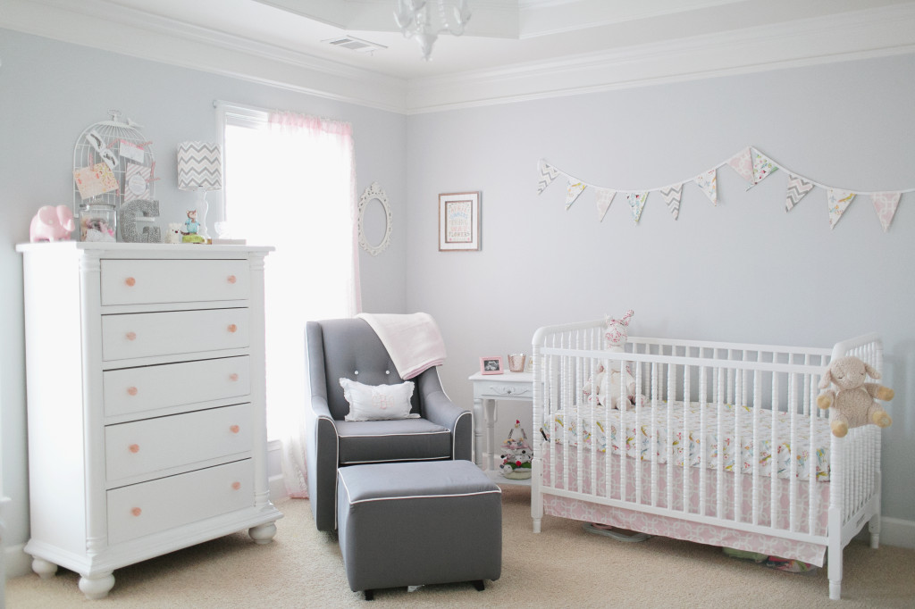 Light Pink And Gray Baby Nursery Project