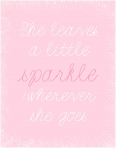 Sparkle Nursery Art Printable