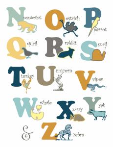 Letters Nursery Art